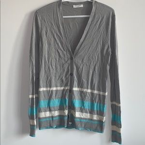 Equipment silk and cashmere cardigan